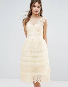 Chi Chi London - Lace Midi Dress