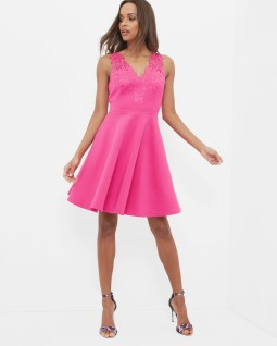 Ted Baker - Pink Skater Dress